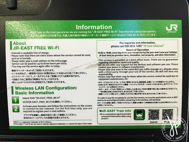 wi-fi information on sticker
