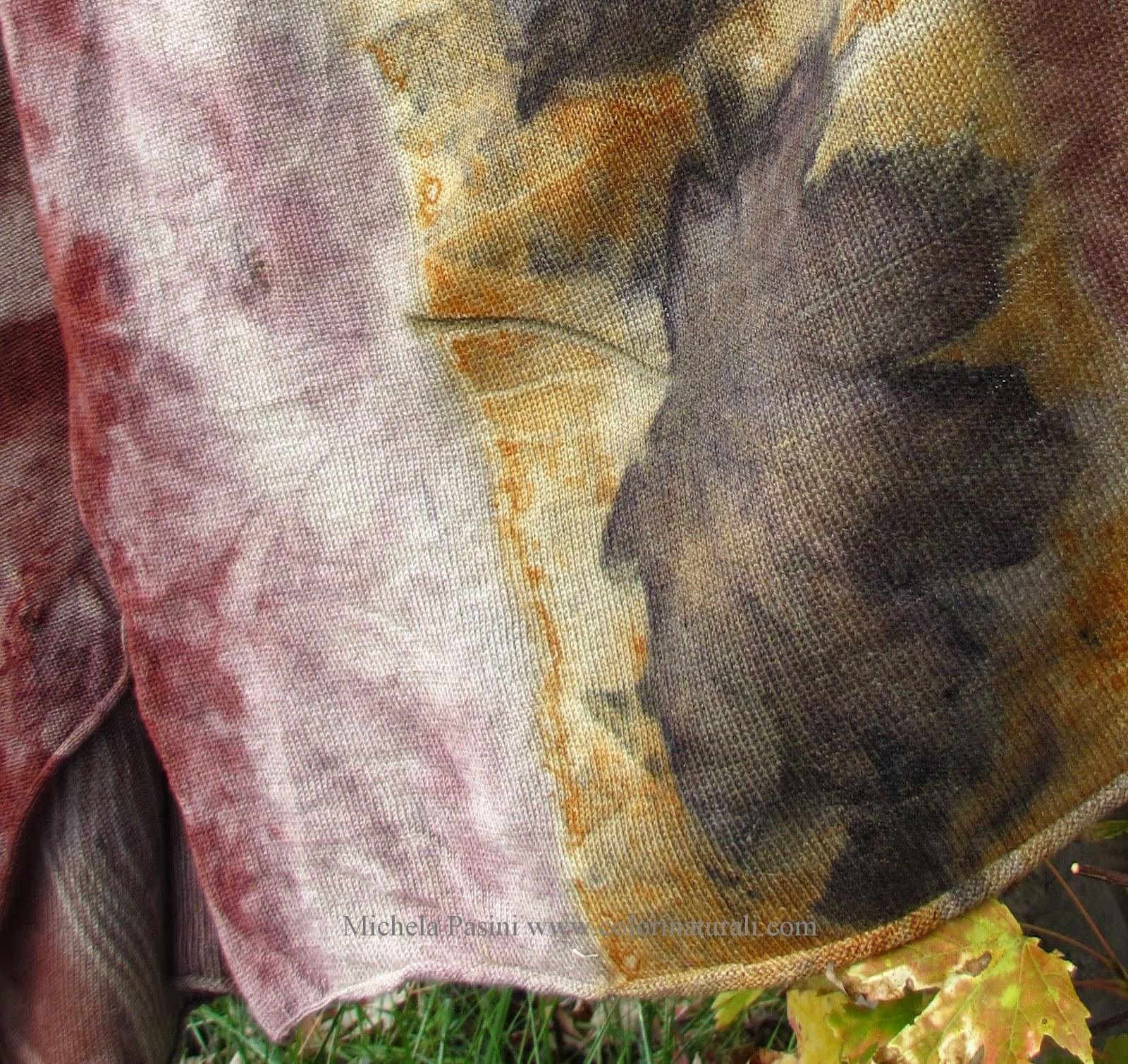 cashmere ecoprint ecoprinting tintura naturale abbigliamento