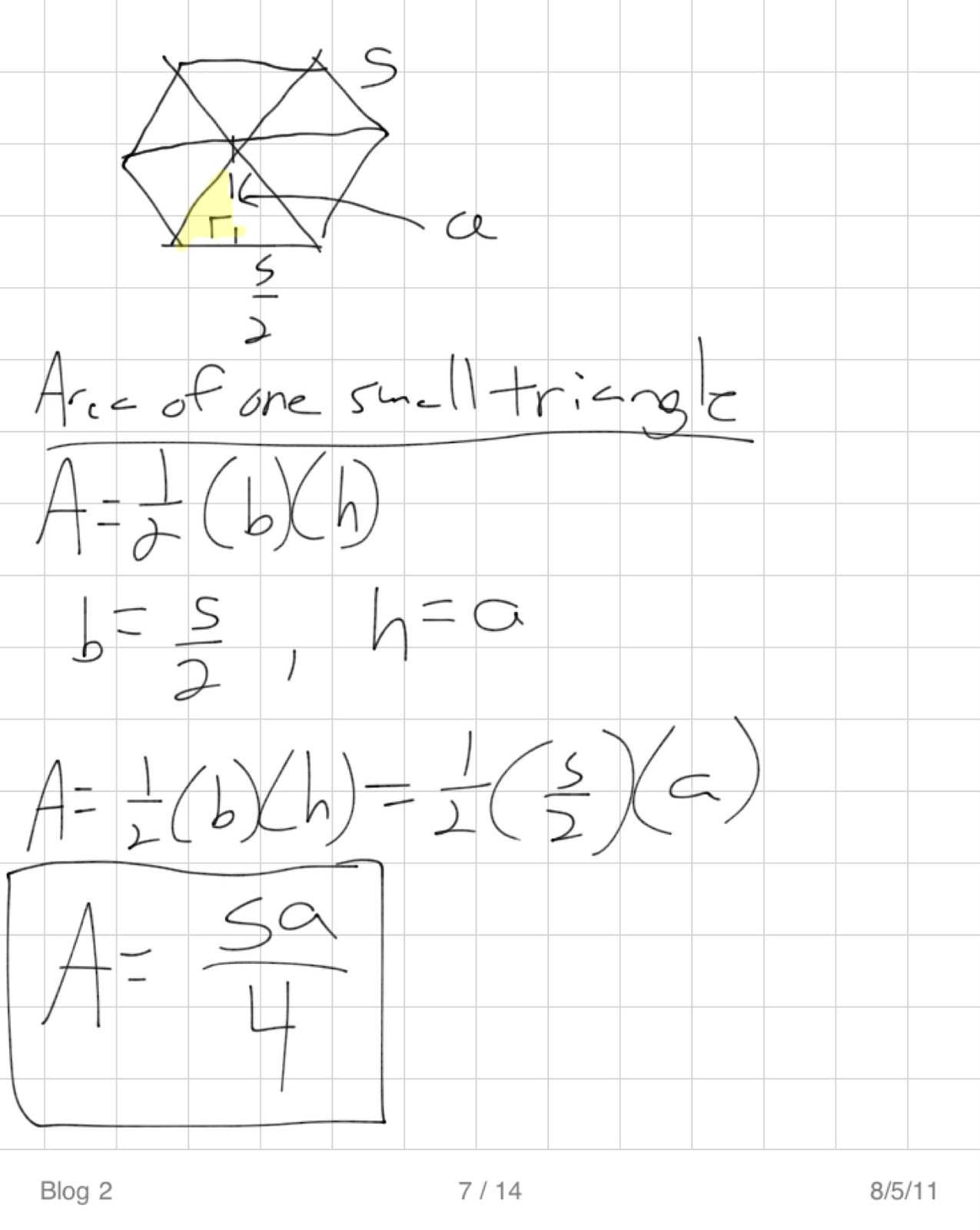 Educational Mathy Quirks What S The Area Of A Regular Polygon