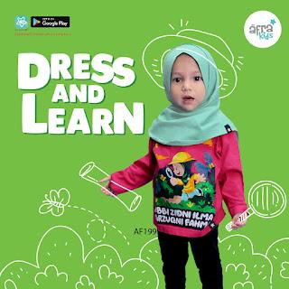 Kaos anak perempuan karakter islami