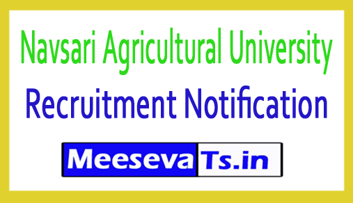 Navsari Agricultural University NAU Recruitment