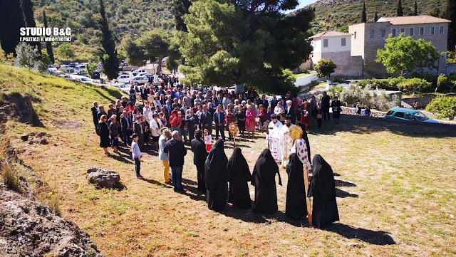 Η εορτή της Ζωοδόχου Πηγής στο Βυζαντινό μοναστήρι της Αγίας Μονής στο Ναύπλιο (βίντεο)
