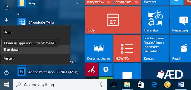 Cara Buat PC Sama Sekali Tak Bisa Shutdown/Restart/Log Off
