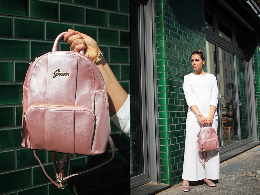 outfit lookbook guess rucksack