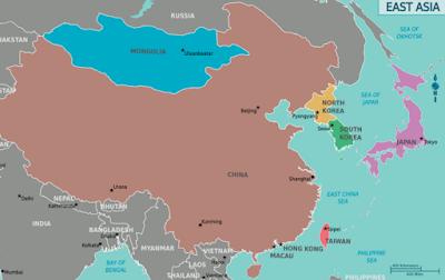 peta kawasan asia timur