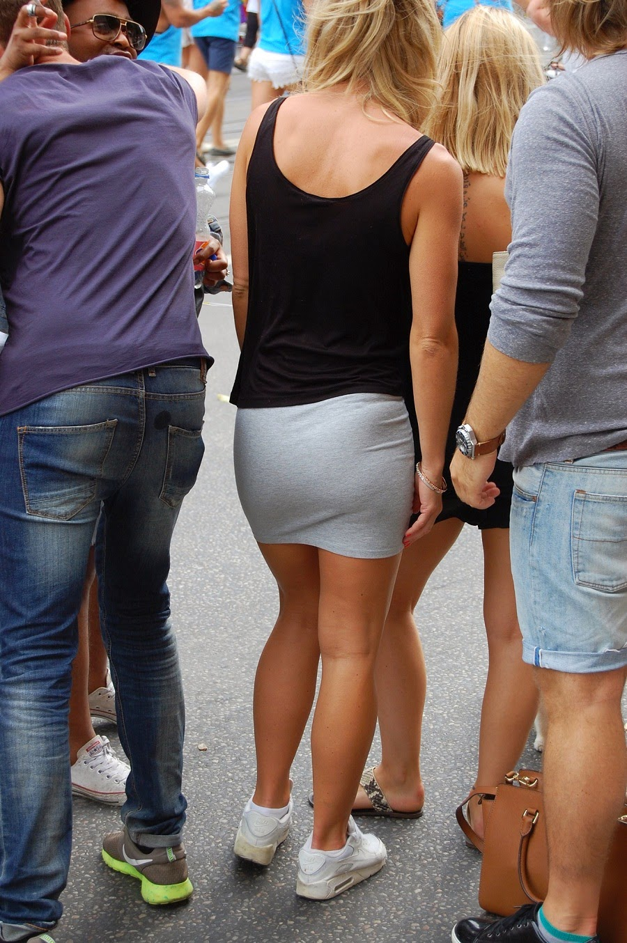 Sexy Girls On The Street, Girls In Jeans, Spandex And -7830