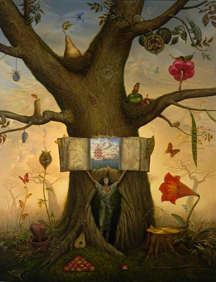 01-Genealogy-Tree-Vladimir-Kush-Surrealism-Allows-Travel-Through-Paintings-www-designstack-co