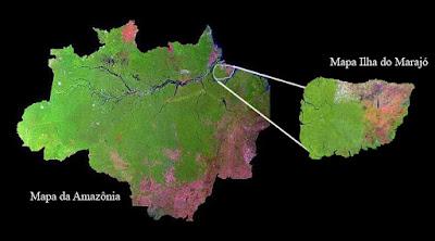 Resultado de imagem para ilha de marajó mapa
