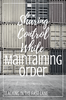 Six strategies for sharing control of the classroom with your students while still maintaining order. The 5th is my favorite and so easy to use!