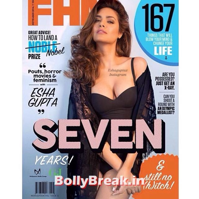the seductive and stunning esha gupta was shot for fhm indias anniversary issue nov'14. she was styled by @sanjanabatra in h&m & @koovsfashion . shot by @dustyfloorsolddoors and makeup assistance by @marianna_mukuchyan 😍💓🙌✨🔥💫 - @egupta esha gupta, esha gupta,x, Esha Gupta FHM November Cover Scan in Bikini & Nighty