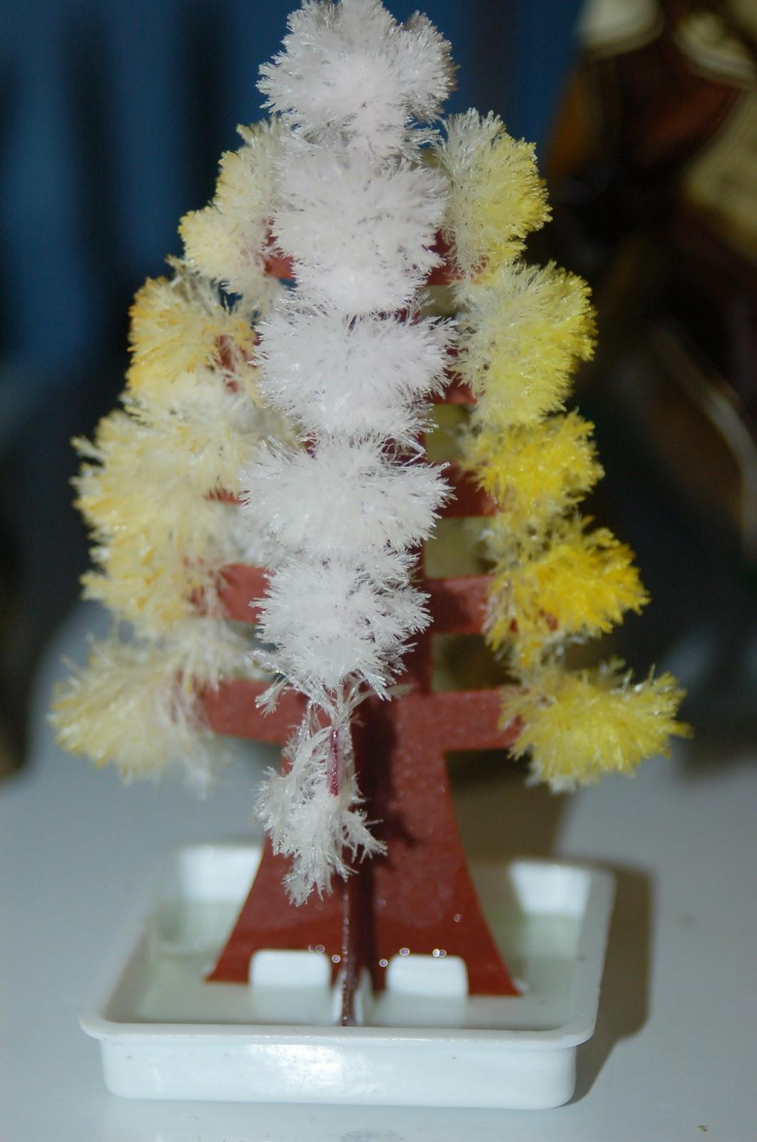 Crystal Growing Christmas Tree