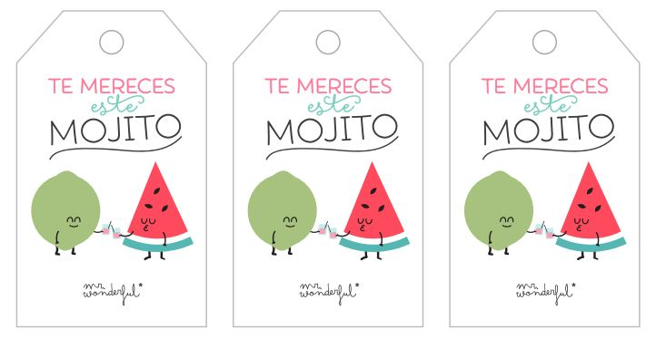 Descargable Mr Wonderful Etiquetas te mereces este mojito