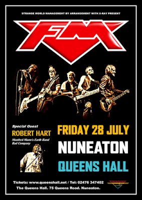 FM / Robert Hart - Nuneaton Queens Hall - 28 July 2017 - poster