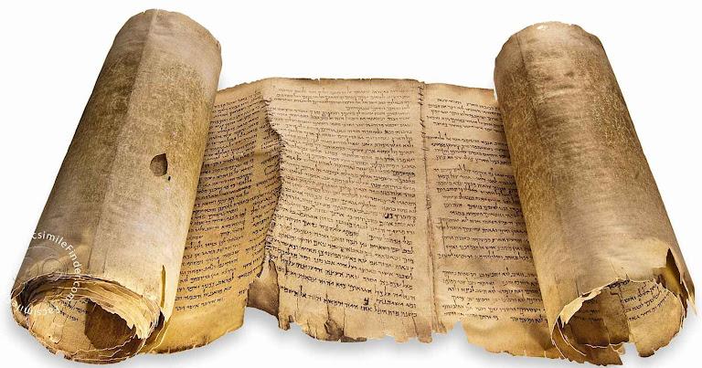 Fac-símile dos documentos de Qumran.