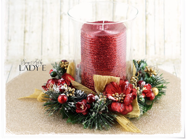 Christmas Candle Decoration - Wild Orchid Crafts DT