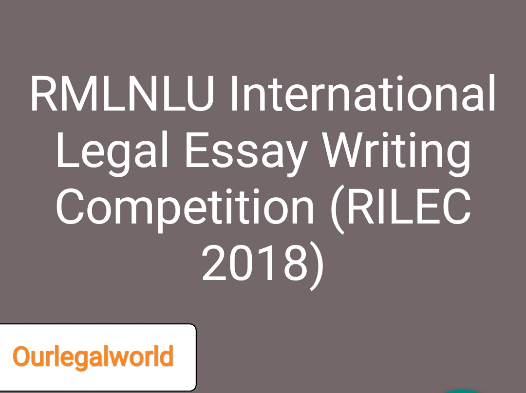 rmlnlu international legal essay competition