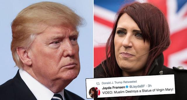 Donald Trump and Jayda Fransen