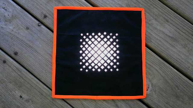Reflective mini quilt for Project Quilting by Slice of Pi Quilts