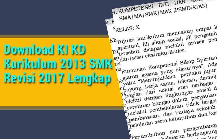 KI KD Kurikulum 2013 SMK