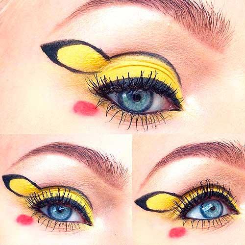 maquillaje ojos pokemon go : Pikachu