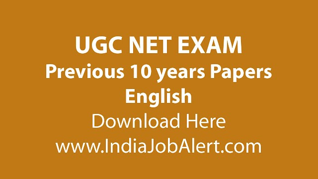 UGC NET English Previous 10 years Question Paper || Download Here