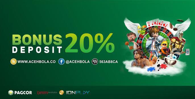 Bonus Deposit 20% NEW MEMBER