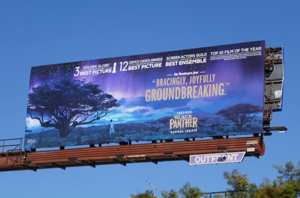 Black Panther Golden Globes FYC billboard