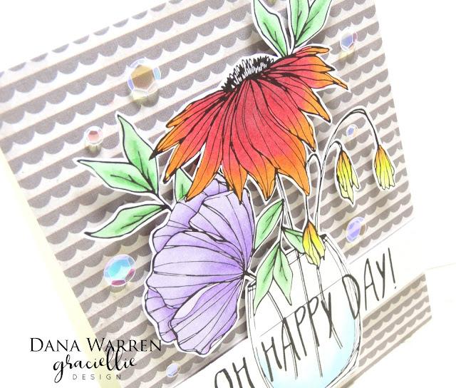 Dana Warren - Kraft Paper Stamps -Graciellie Designs - Spectrum Noir