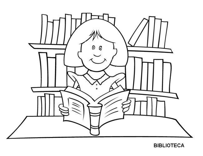 Desenho De Biblioteca Para Colorir: Ensino, Educação E Reflexão: Vamos Colorir?