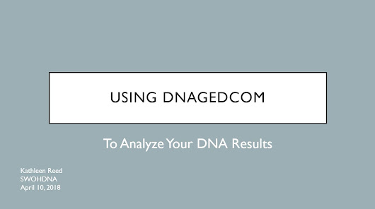 Using DNAGedom to Analyze Your DNA Results