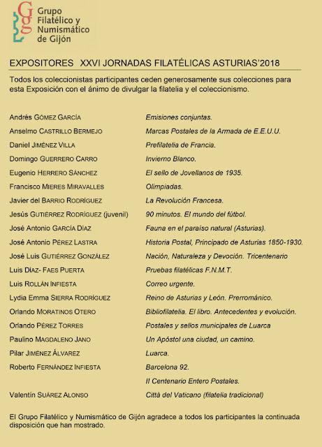 Expositores de las Jornadas de Gijón