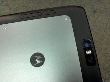 Botões e câmera doXoom 2 Media Edition
