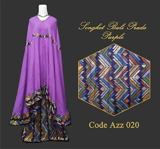 Gambar Mukena Songket Purple