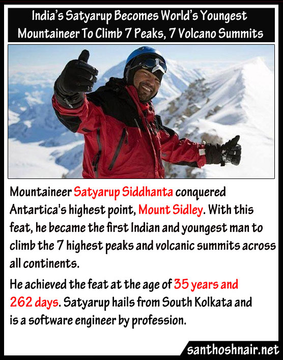 India's Satyarup becomes world's youngest mountaineer to climb 7 peaks, 7 volcano summits
