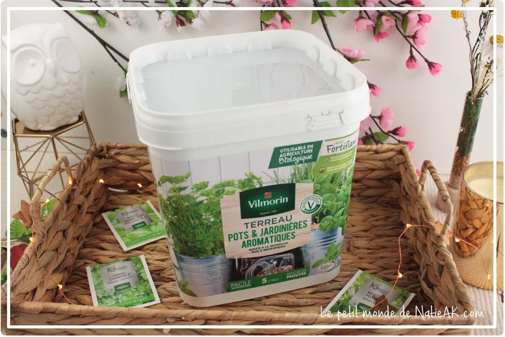Terreau  jardinière aromatiques Vilmorin