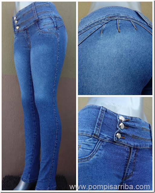 Pantalon colombiano barato, moda de mujer, pantalones de mezclilla baratos