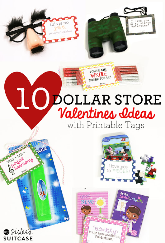 10 Dollar Store Valentines Printables (Boys, Girls, and Class Ideas!)