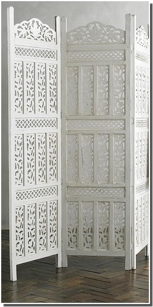 nassima home paravent blanc style arabe. Black Bedroom Furniture Sets. Home Design Ideas