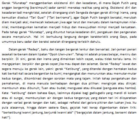 Makna Gerakan Tari Guel Gayo Aceh