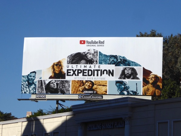 Ultimate Expedition YouTube Red billboard