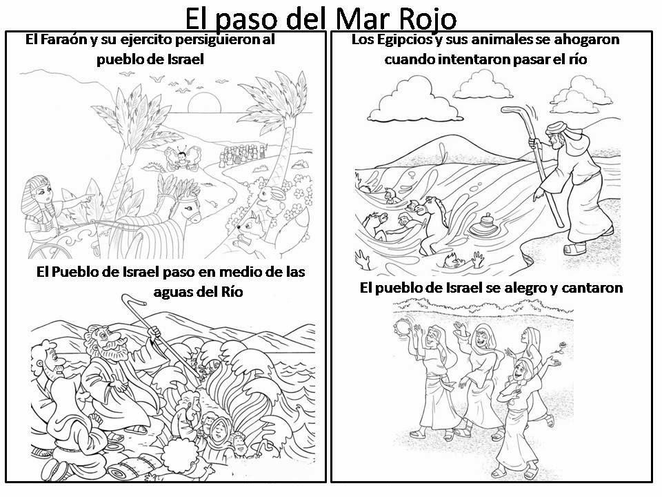 El Renuevo De Jehova: El paso del mar rojo - Imagenes para colorear ...