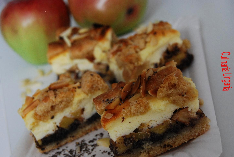 culinaria ungaria apfel quark kuchen mit mohn und marzipan. Black Bedroom Furniture Sets. Home Design Ideas