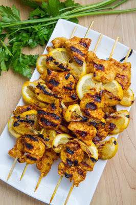Moroccan Grilled Chicken Kabobs Recipe