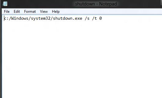 Shutdown Batch