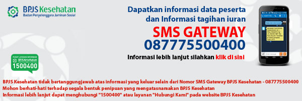 cek tagihan bpjs kesehatan via sms gateway