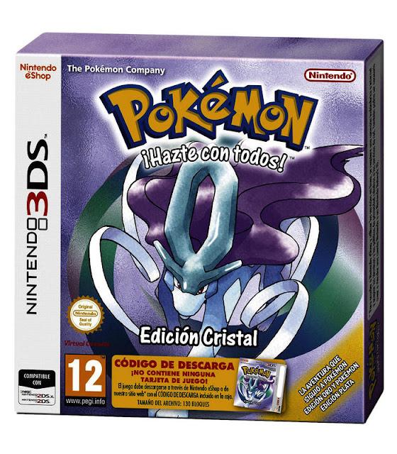 Pokémon Edición Cristal Consola Virtual 3DS ESPAÑOL - MEGA