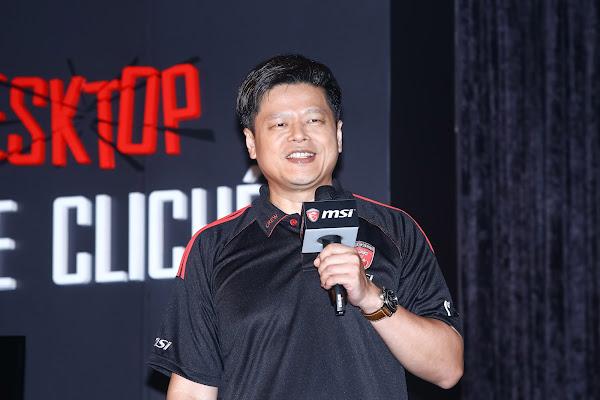 微星NB業務暨行銷處副總經理郭緒光。
