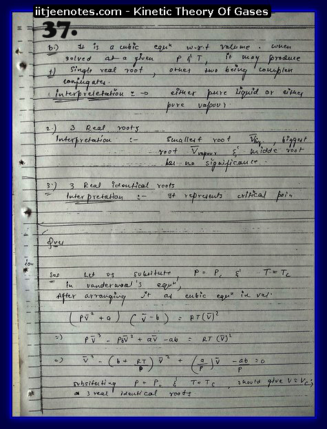 Kinetic Theory Of Gases Notes IITJEE7