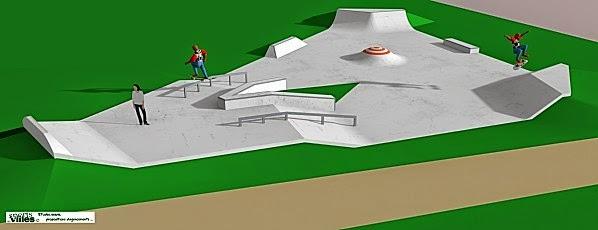 Skatepark Saint-Cheron plan