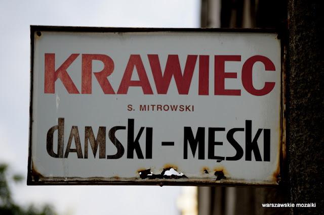 Warszawa Warsaw szyld krawiec